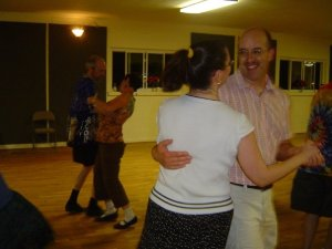 Our first contra dance at the Guilford Grange in Greensboro, NC, in 2009.