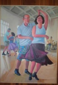 A painting of me and my favorite partner, by another great dancer and artist, Don Morgan.